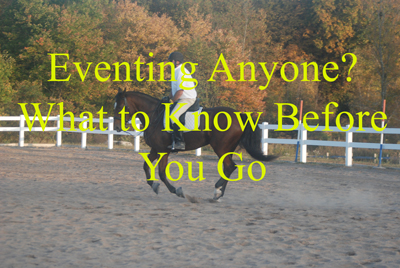 Eventing Anyone? What to Know Before You Go