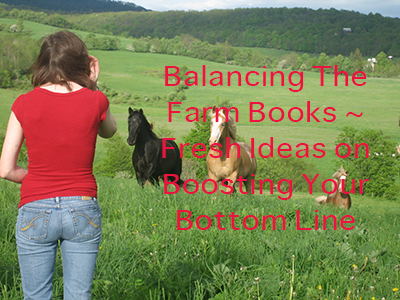 Balancing The Farm Books ~ Fresh Ideas on Boosting Your Bottom Line